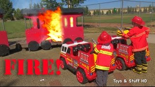 Kids Fire Engine in Action!
