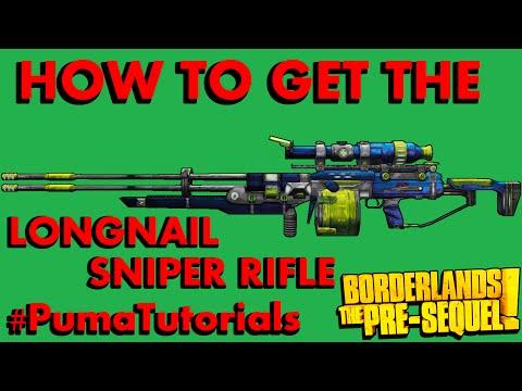 Borderlands: The Pre-Sequel! Legendary Weapons Guide - Longnail Sniper Rifle #PumaTutorials |
