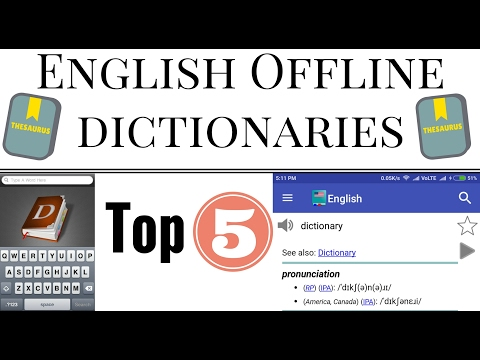 Best Offline English Dictionary For Android : Top 5