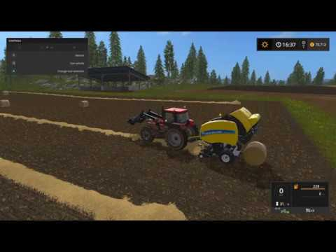 Farming Simulator 2017 (PS4) |  Farm Diary Day 1 | Leasing the Baler