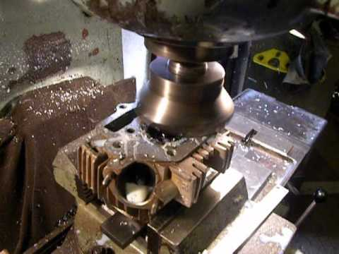 Customize 110cc Chinese motorcycle engine head by 6T10 milling machine and Sandvik tool