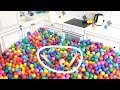 سينيا اشترى 1 مليون كرات ملونة وكؤوس!