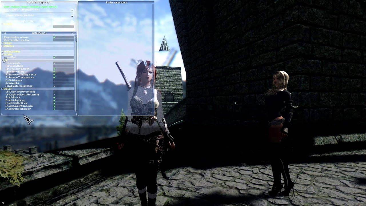 Skyrim - enb баг с исчезающими глазами