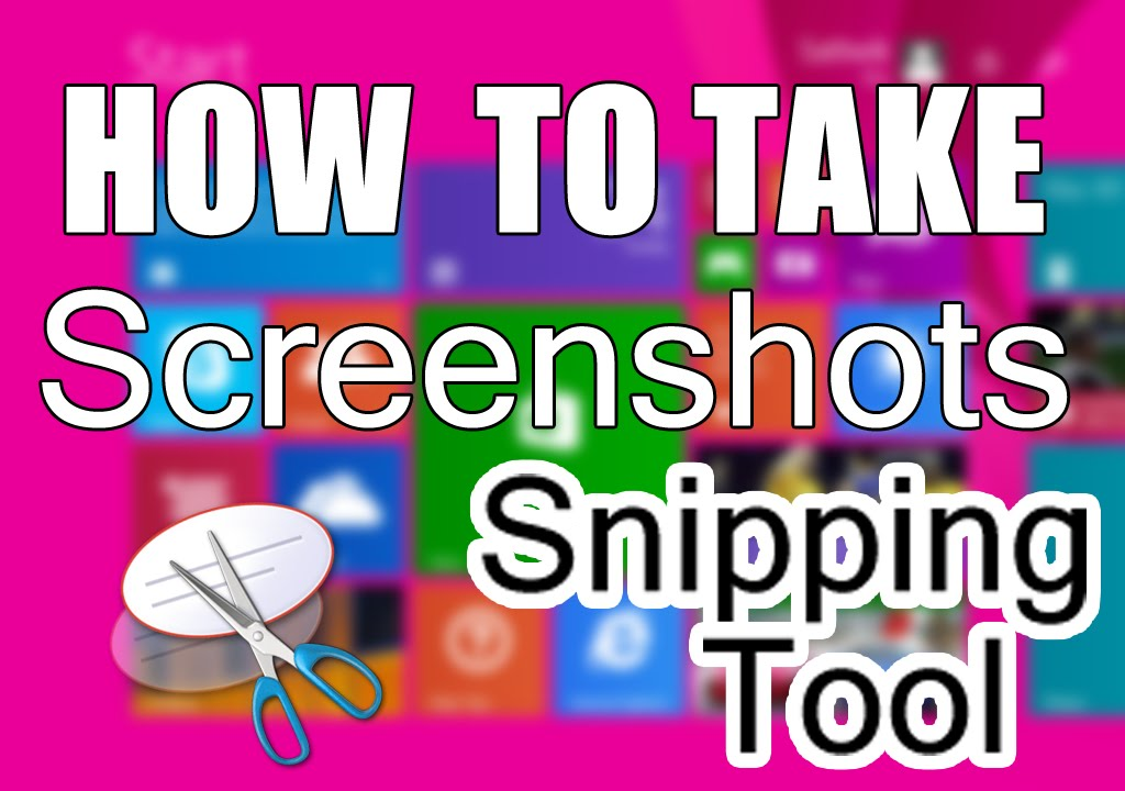 Windows 8. 1 two ways to open snipping tool youtube.