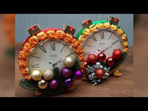 Что подарить на Новый год 2020? Часы из конфет!