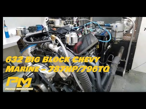 Airboat Engine: 632 Big Block Chevy Marine Series