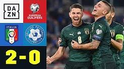 Glanzlos-Sieg bringt Italien zur EM: Italien - Griechenland 2:0 | EM-Quali | DAZN-Highlights