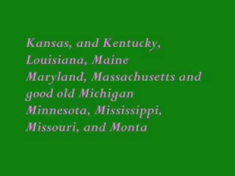 50states with lyrics