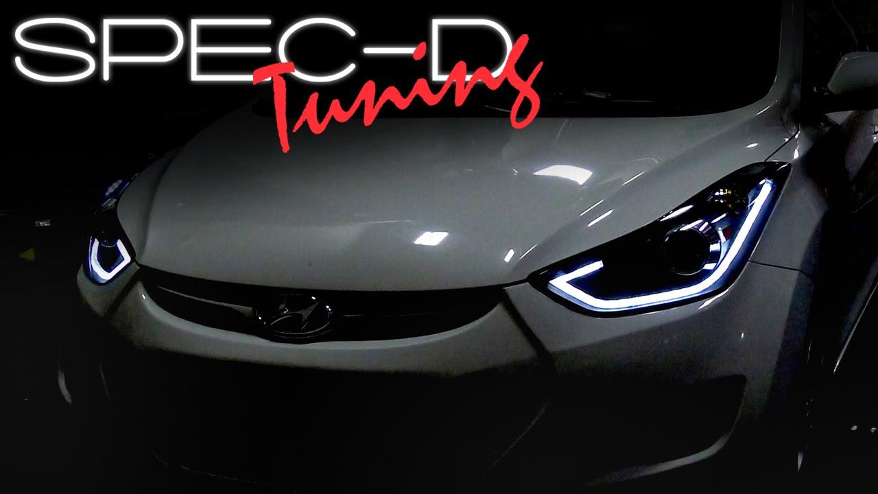 specdtuning installation video 2011 2013 hyundai elantra projector headlights youtube [ 1280 x 720 Pixel ]