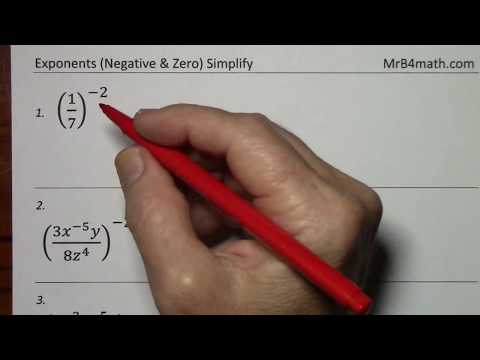 Exponents (Negative & Zero)-  Rules Explained & Examples Worked