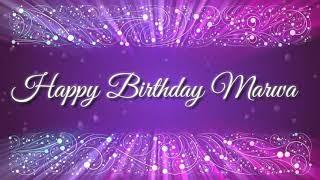 Happy birthday marwa