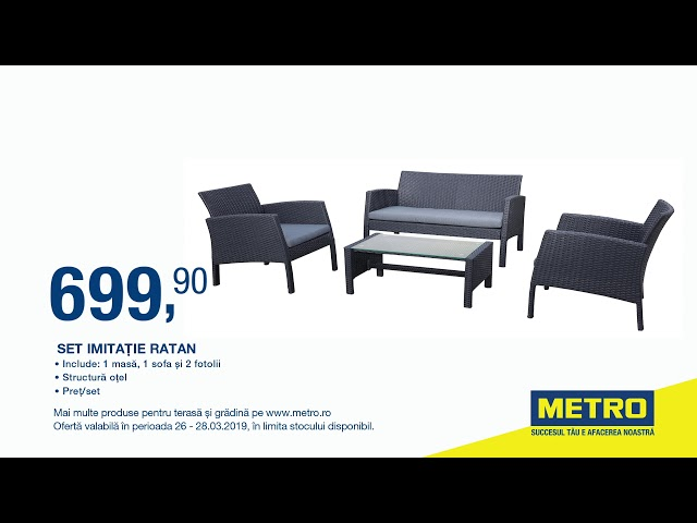 Metro Mobilier Outdoor Oferta Set Imitație Ratan 26 28 03 2019 Youtube