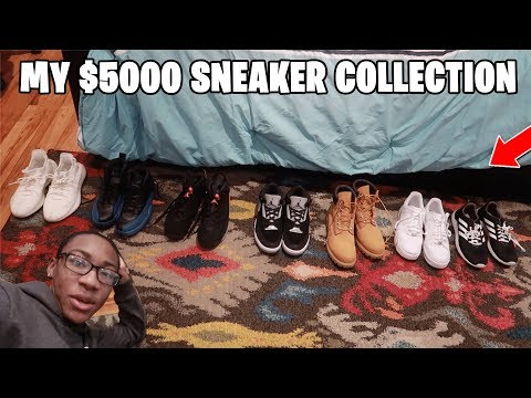 WELCOME TO MY $5,000 SNEAKER COLLECTION!