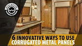 How To Install Corrugated Metal On Interior Walls With Shiplap Halfway Down Youtube