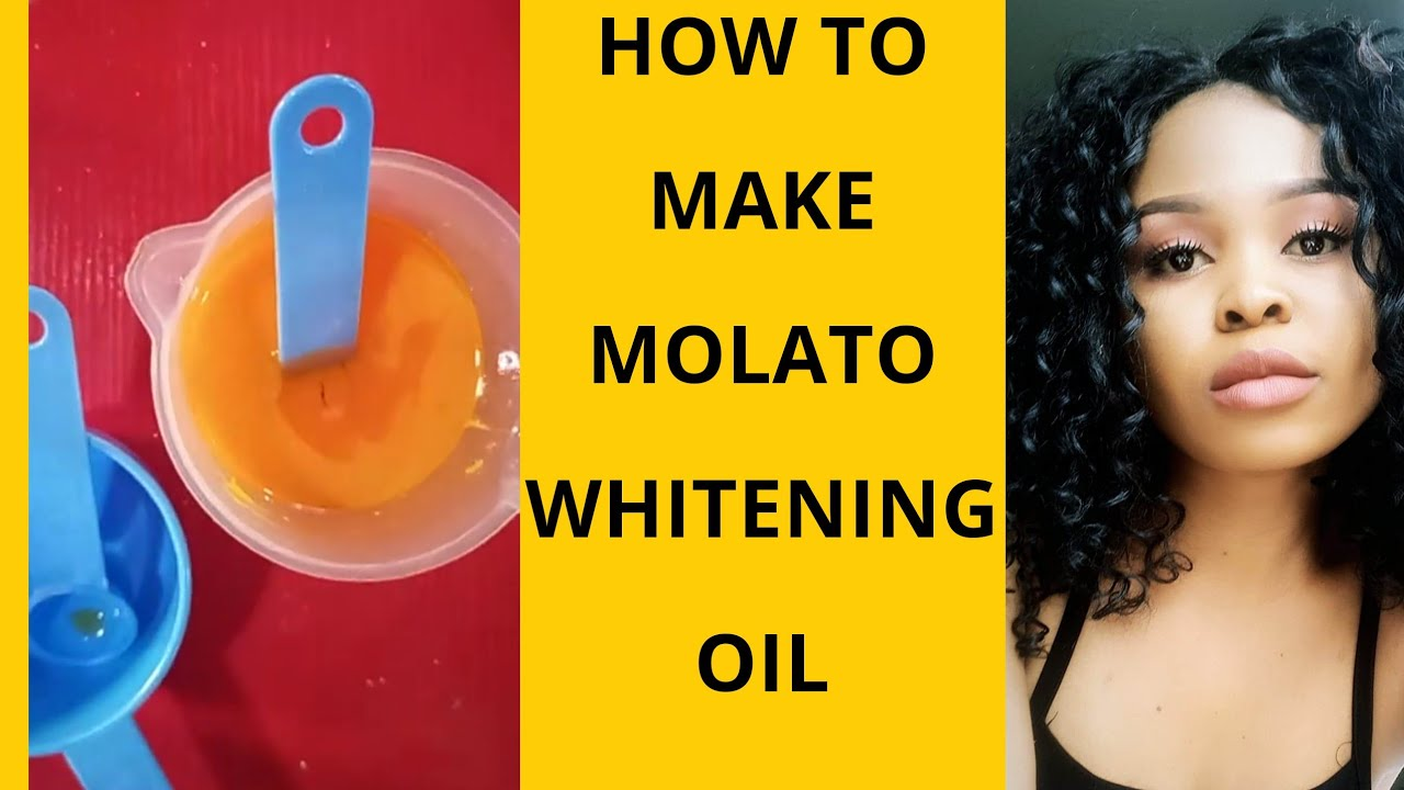 Tutorial On How To Make Half Cast Whitening Oil Diy Molato Bleaching Serum At Home For Flawless Skin Youtube