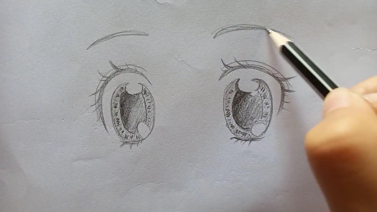 สอนวาดตาอนิเมะ(ผู้หญิง) ง่ายๆจ้าาาาา #วาดรูปง่ายๆbyพี่ส้ม วาดรูปการ์ตูน