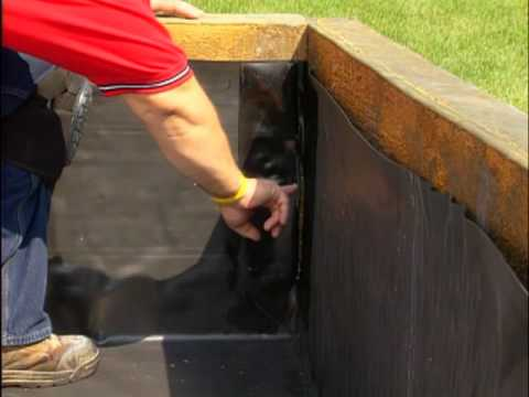 detail 19 installing firestone building products epdm geomembrane to a corner wall youtube