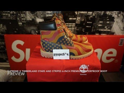 Timberland x Supreme Stars   Stripes Waterproof Boots - YouTube dd1a7810f