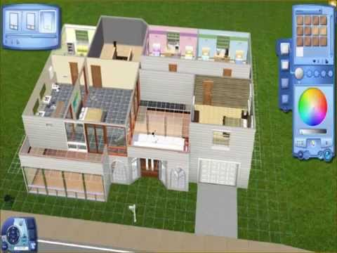 Blueprints only sims 3 family home youtube for Sims 4 house plans