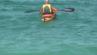 Luca sul kayak Prijon Seayak 500 LV col timone nuovo - 4.8.2011