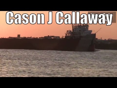 1952 Cason J Callaway - 767ft / 233.7m - Bulk Carrier Cargo Ship In Great Lakes