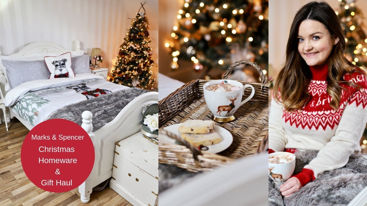 christmas homeware and gift haul with marks and spencer. Black Bedroom Furniture Sets. Home Design Ideas