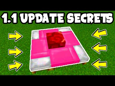 MINECRAFT PE 1.1 - UPDATE SECRETS!! // ALL 1.1 Minecraft Pocket Edition 1.1 SECRETS!