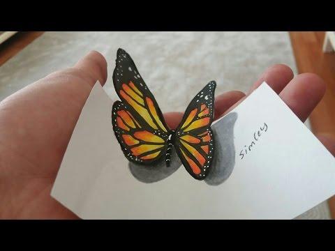 Gerçekçi 3D Kelebek Çizimi