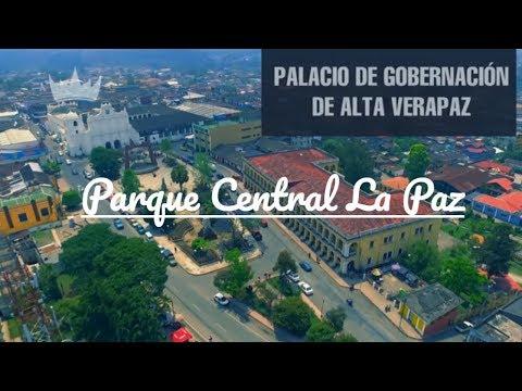 Cobán Parque Central la Paz - Manuel tot - Torre del Reloj - Gobernación de Alta Verapaz, Guatemala