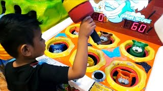Zefa plays at indoor playground for kids fun play