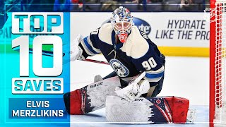 Top 10 Elvis Merzlikins Saves from 2019-20 | NHL