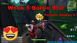 Follow The Treasure Map Found In Snobby Shores (Fortnite Season 5 Challenge)