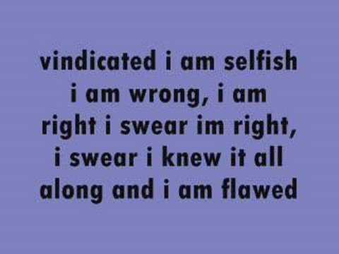 vindicated lyrics by dashboard confessional