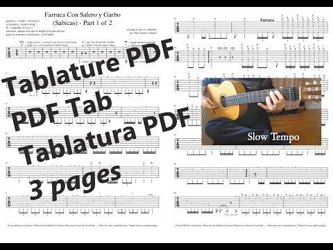 Sabicas - Farruca Con Salero y Garbo (avec Tutorial) Part 1 + Tablature (tabs)
