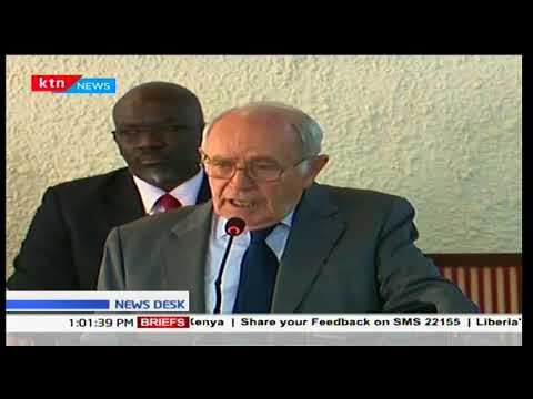 South Africa's retired judge Johan Kriegler speaks on Kenya's last election