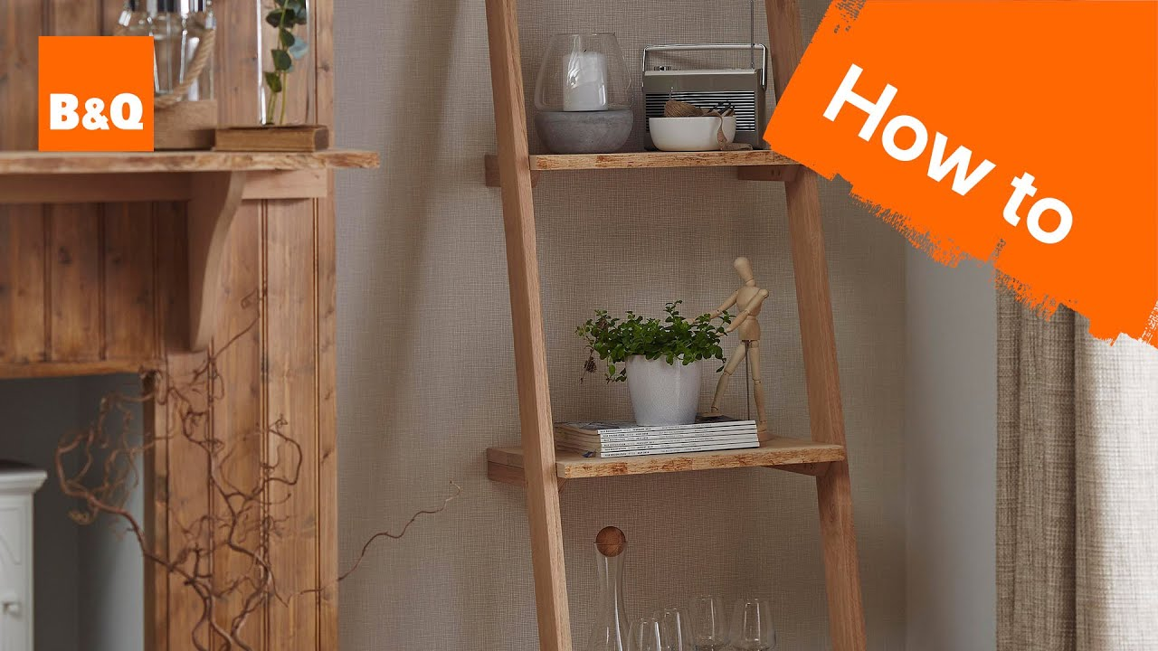 How to build a ladder shelving unit - YouTube