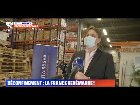 Transport de masques et de matériel médical avec QUALITAIR&SEA en direct sur BFMTV avec Eric Hennet