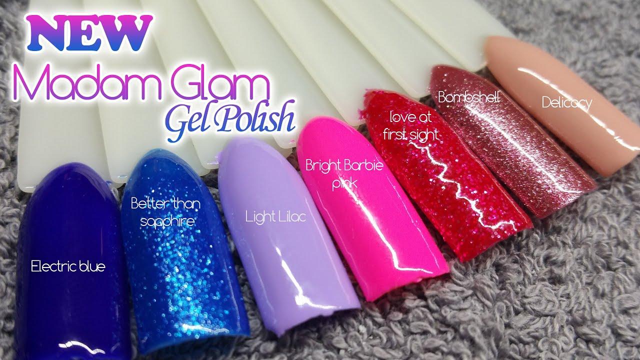 Madam Glam | New Colors | Gel Polish - YouTube
