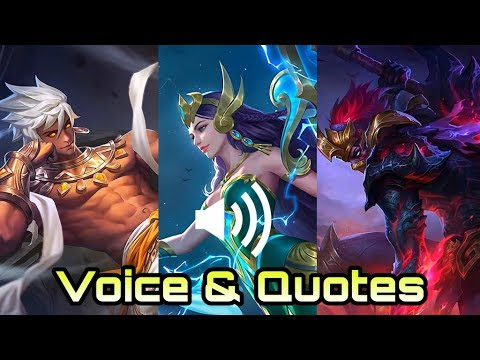 New Hero Voice & Quotes Vale, Kadita, Hanzo - Mobile Legends Bang Bang