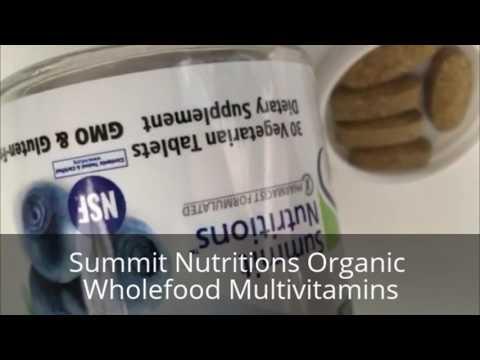 Summit Nutritions Organic Wholefood Multivitamins