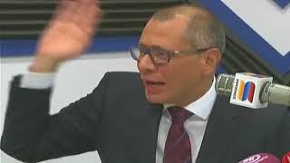 Vicepresidente Glas anunció que no abandonará el país