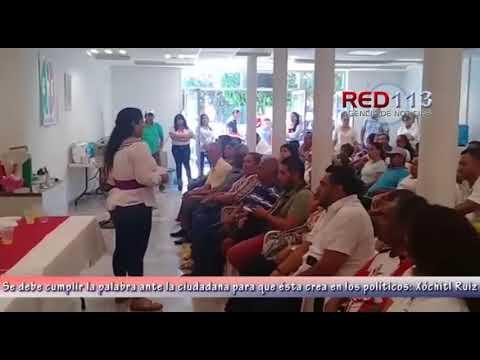 VIDEO Se debe cumplir la palabra ante la ciudadana para que ésta crea en los políticos: Xóchitl Ruiz