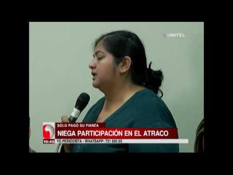 Conyugue implicada en el atraco niega la participación en el hecho y pide justicia