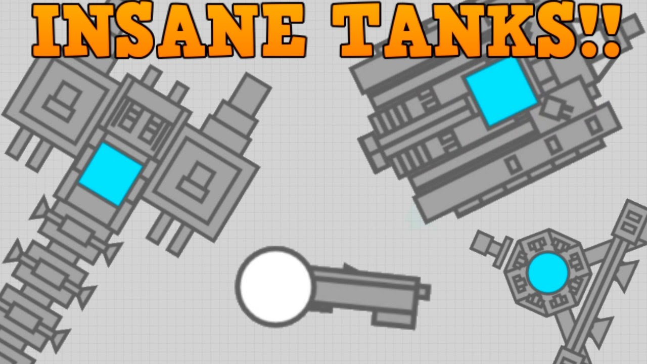 DIEP.IO CREATE YOUR OWN TANK!! // CRAZY Fan Creations ...