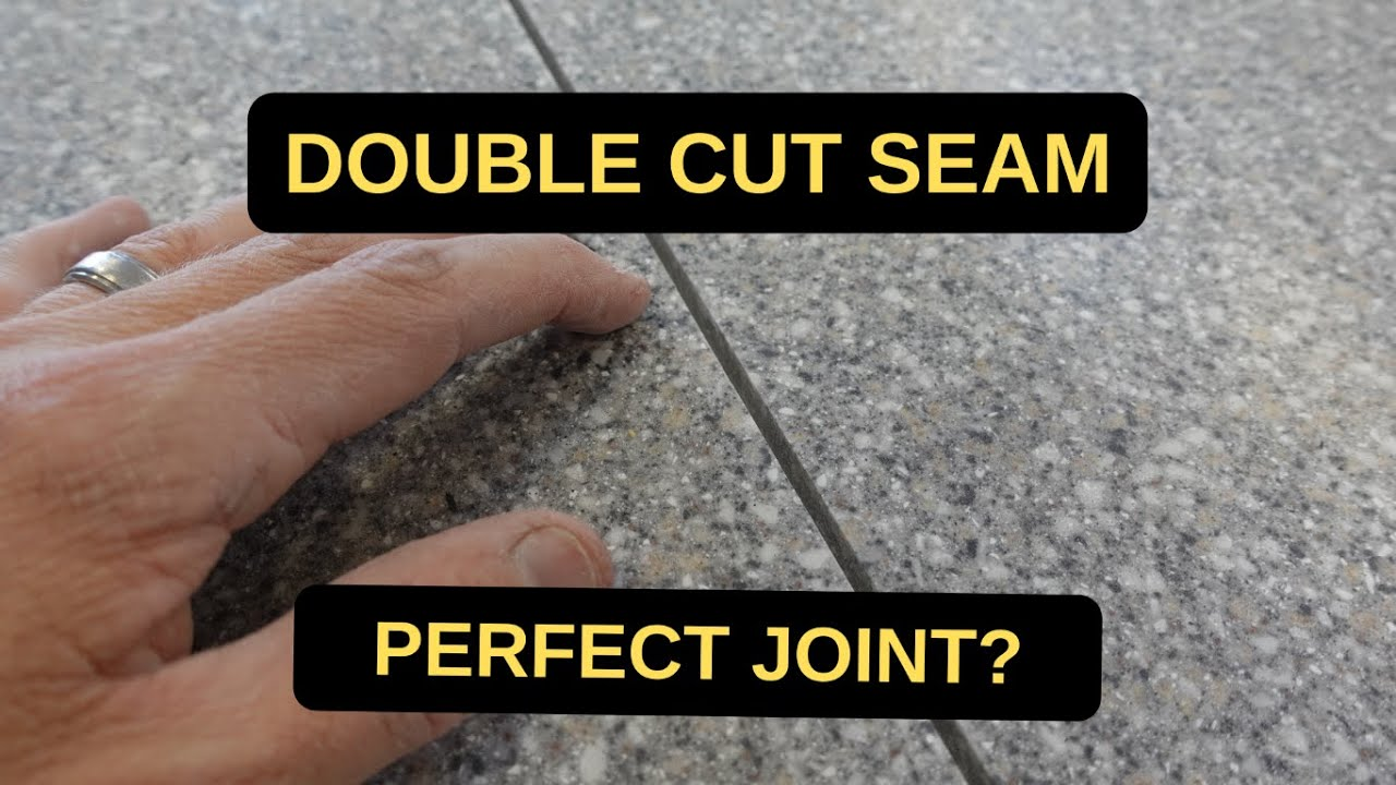 Solid Surface Double Cut Seam Youtube