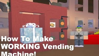 How To Make A WORKING Vending Machine! Lumber Tycoon 2 (Yes! It actually works!)