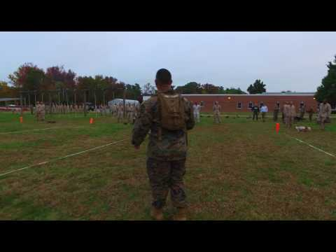 Marine Corps Combat Fitness Test at Officer Candidates School (OCS)