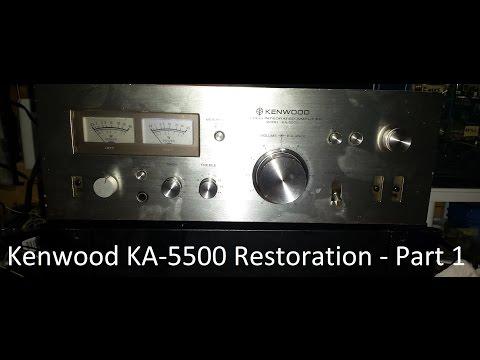 kenwood ka 5500 integrated amplifier fix up part 1 rh curvetube com