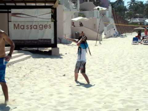 Crazy kid in the Bahamas dancing for a free back massage