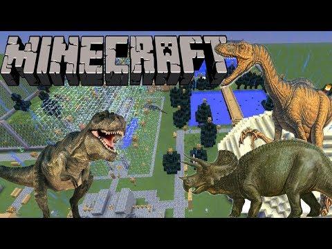 Taman Dinosaurus Terbesar - Jurrasic Craft - Showcase Mod Minecraft